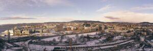 Oslo at night, fotokunst veggbilde / plakat av Erling Maartmann-Moe