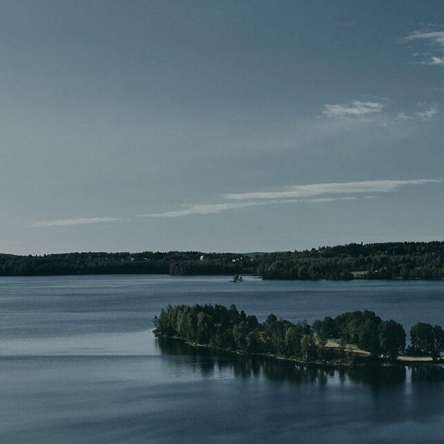 Åker langs Maridalsvannet, fotokunst veggbilde / plakat av Peder Aaserud Eikeland