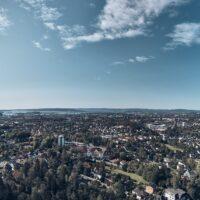 Utsikt fra Korsvolltoppen, fotokunst veggbilde / plakat av Peder Aaserud Eikeland
