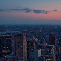 New York twilight, fotokunst veggbilde / plakat av Peder Aaserud Eikeland