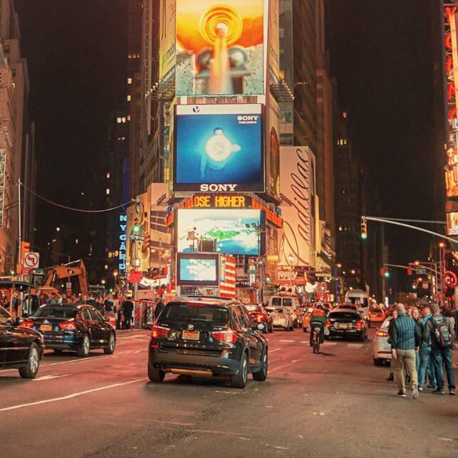 Times Square glow, fotokunst veggbilde / plakat av Peder Aaserud Eikeland