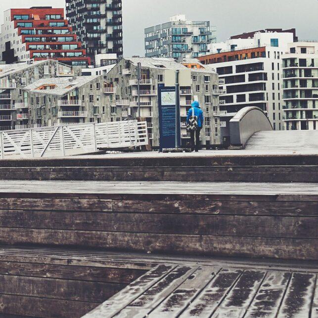 Sørenga mot Barcode, fotokunst veggbilde / plakat av Peder Aaserud Eikeland