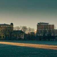Solstråler over Voldsløkka, fotokunst veggbilde / plakat av Peder Aaserud Eikeland