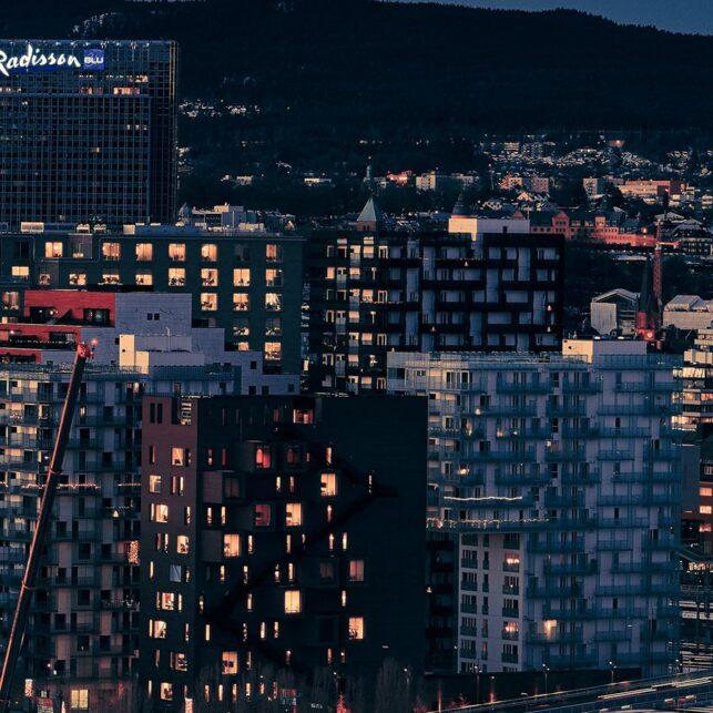 Panoramautsikt over Oslo fra Munchs utsikt, fotokunst veggbilde / plakat av Peder Aaserud Eikeland