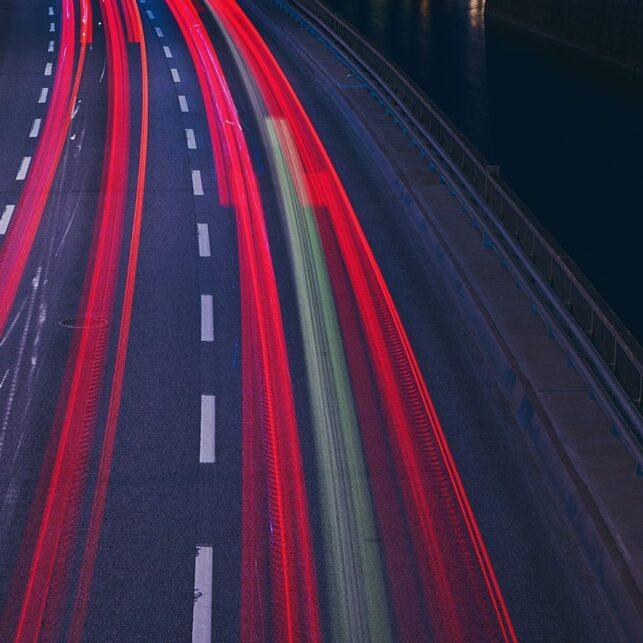 Stockholm light trails, fotokunst veggbilde / plakat av Peder Aaserud Eikeland