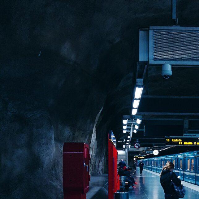 Stockholm blue line, fotokunst veggbilde / plakat av Peder Aaserud Eikeland