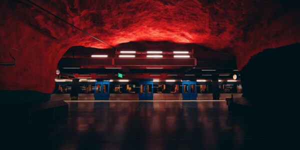 Blue line from hell, fotokunst veggbilde / plakat av Peder Aaserud Eikeland