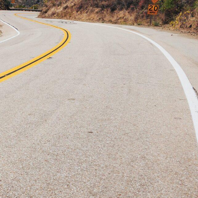 Highway 1 curves, fotokunst veggbilde / plakat av Peder Aaserud Eikeland