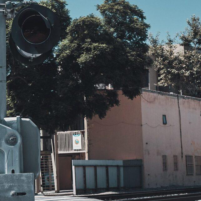 Railroad crossing, fotokunst veggbilde / plakat av Peder Aaserud Eikeland