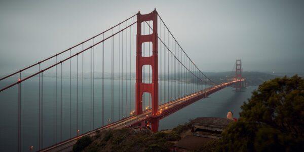 Golden Gate dark, fotokunst veggbilde / plakat av Peder Aaserud Eikeland