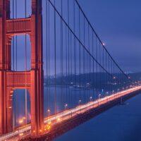 Golden Gate tight pano, fotokunst veggbilde / plakat av Peder Aaserud Eikeland