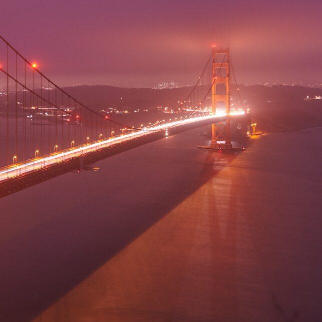 Golden Gate Glow, fotokunst veggbilde / plakat av Peder Aaserud Eikeland