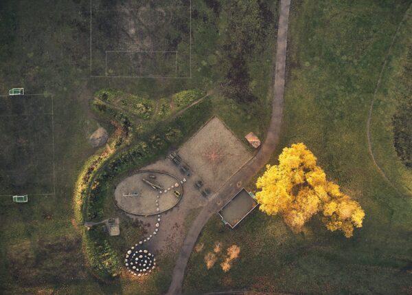 Lekeplassen på Voldsløkka, fotokunst veggbilde / plakat av Peder Aaserud Eikeland