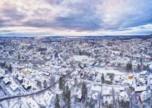 Nordre Aker i vinterdrakt, fotokunst veggbilde / plakat av Peder Aaserud Eikeland