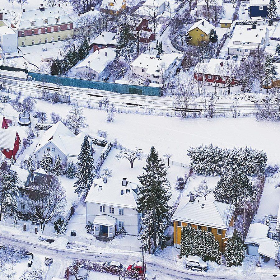 Tåsen i vinterdrakt, fotokunst veggbilde / plakat av Peder Aaserud Eikeland