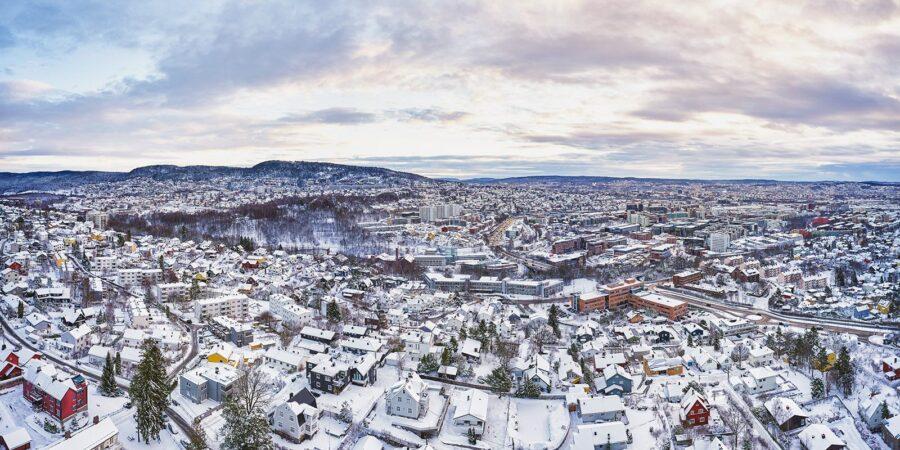 Nydalen i vinterdrakt av Peder Aaserud Eikeland