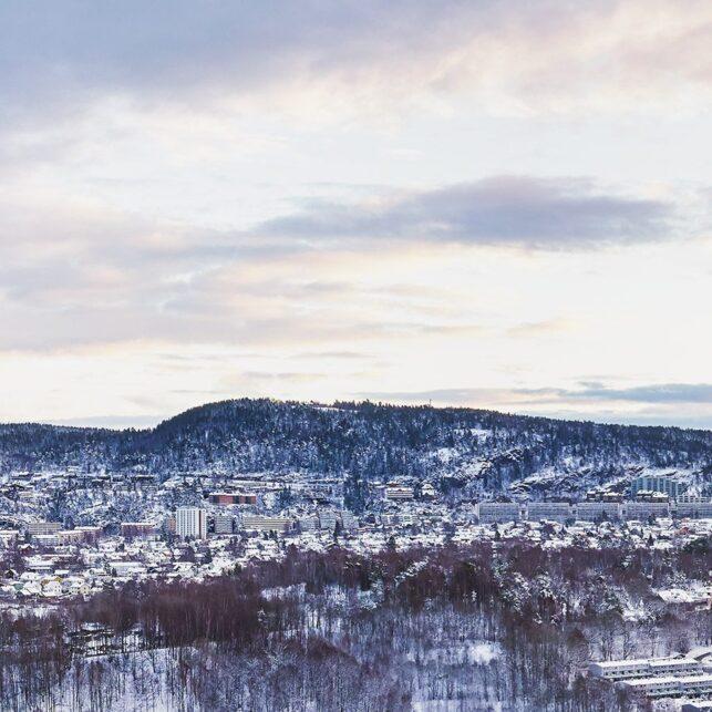 Nydalen i vinterdrakt, fotokunst veggbilde / plakat av Peder Aaserud Eikeland
