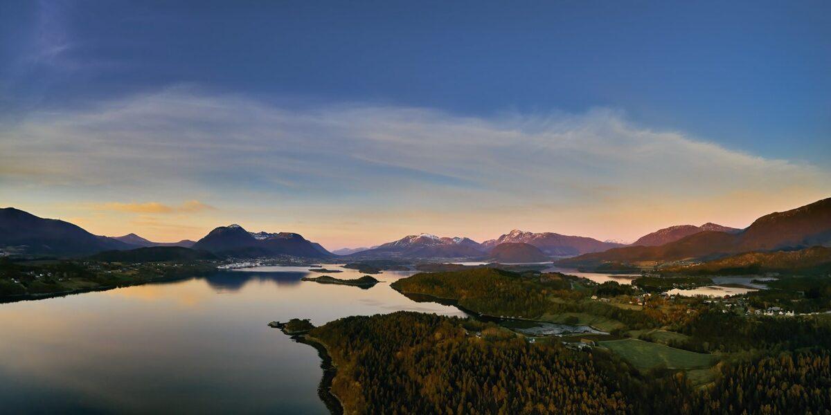 Harøyfjorden, fotokunst veggbilde / plakat av Peder Aaserud Eikeland