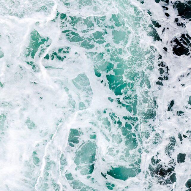 Bølger, Sjø, fotokunst veggbilde / plakat av Sindre Krane Olsen