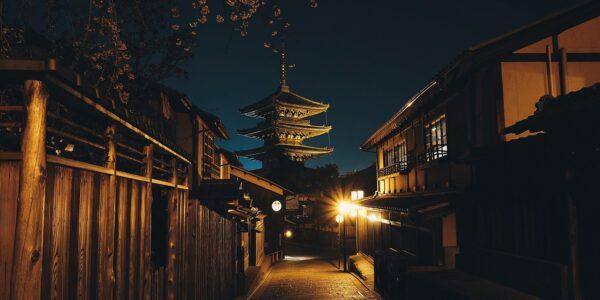 Japansk tempel i Kyoto, fotokunst veggbilde / plakat av Tor Arne Hotvedt