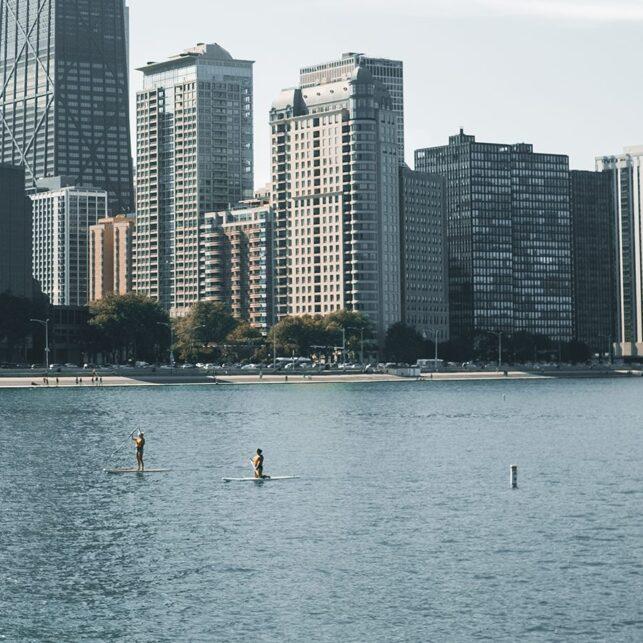 Chicago skyline I, fotokunst veggbilde / plakat av Tor Arne Hotvedt