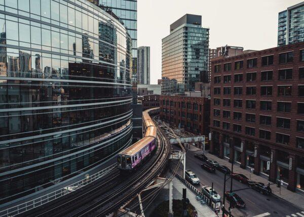 Chicago L, fotokunst veggbilde / plakat av Tor Arne Hotvedt