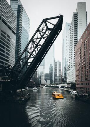 Chicago Water Taxi, fotokunst veggbilde / plakat av Tor Arne Hotvedt