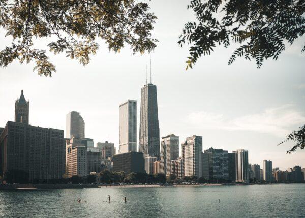 Chicago skyline II, fotokunst veggbilde / plakat av Tor Arne Hotvedt