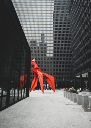 Abstrakt skulptur i Chicago sentrum, fotokunst veggbilde / plakat av Tor Arne Hotvedt