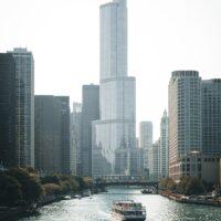 Chicagoelven, fotokunst veggbilde / plakat av Tor Arne Hotvedt