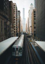 Det berømte skiltet i Chicago, fotokunst veggbilde / plakat av Tor Arne Hotvedt