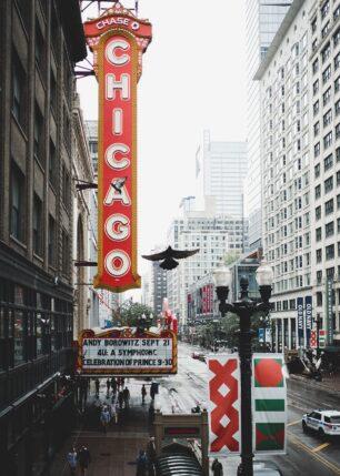The Chicago Theatre, fotokunst veggbilde / plakat av Tor Arne Hotvedt