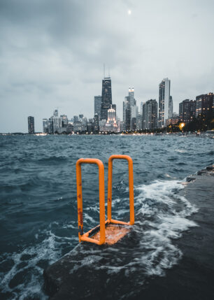 Lake Michigan og skyskrapere i storbyen Chicago, fotokunst veggbilde / plakat av Tor Arne Hotvedt