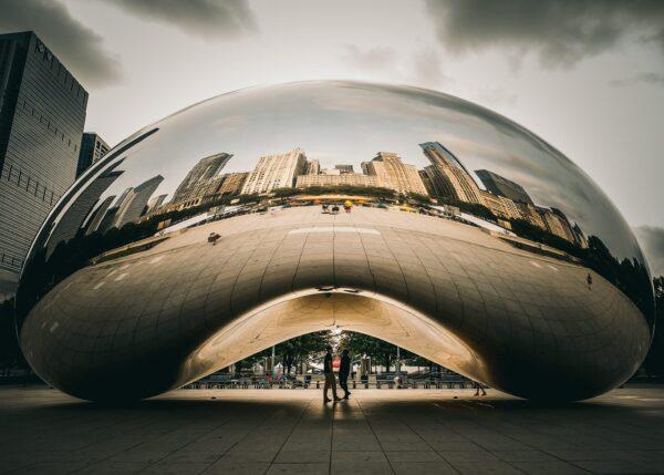 Et ikon i Chicago, fotokunst veggbilde / plakat av Tor Arne Hotvedt