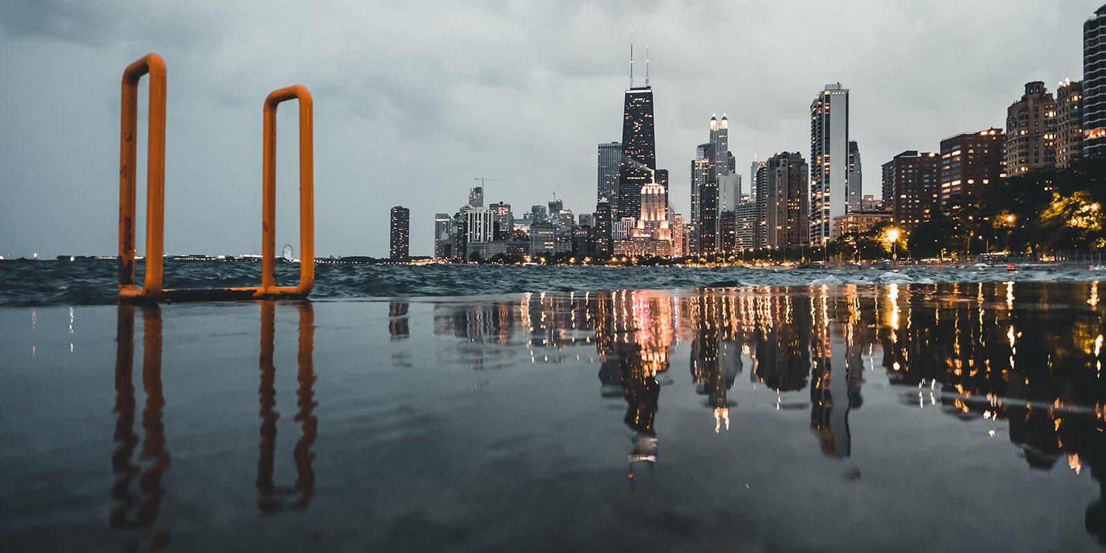 Speilbilde av Chicago av Tor Arne Hotvedt