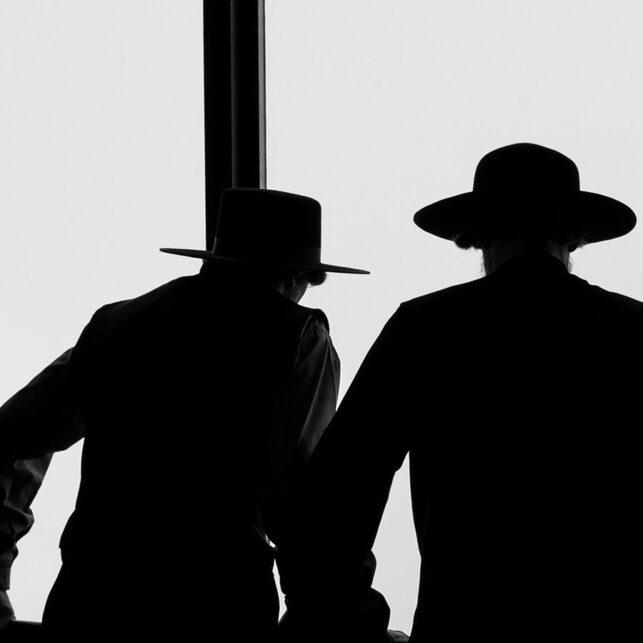 Tre herrer med hatt i silhuett, fotokunst veggbilde / plakat av Tor Arne Hotvedt