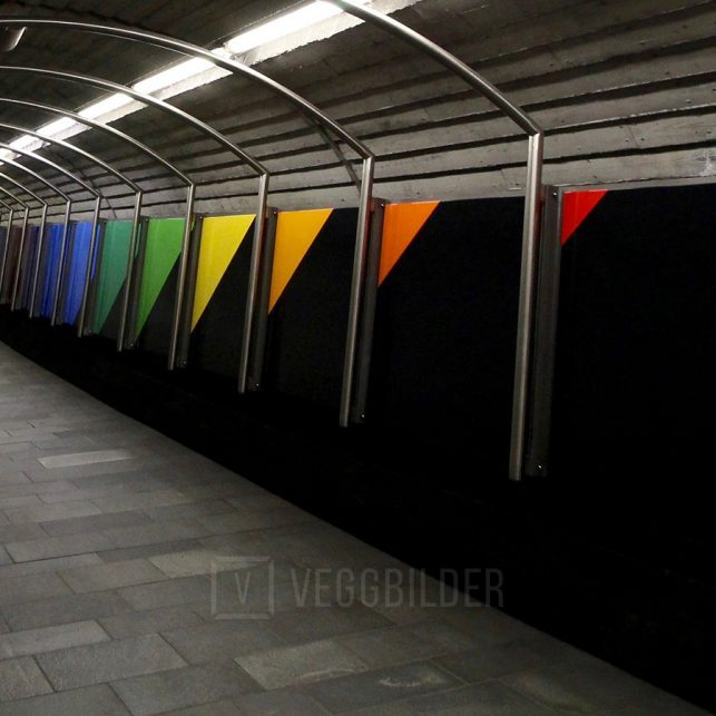 Inngang til togstasjonen på Nationaltheatret, fotokunst veggbilde / plakat av Tor Arne Hotvedt