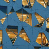 Deloittebygningen i Barcode-rekken, fotokunst veggbilde / plakat av Tor Arne Hotvedt