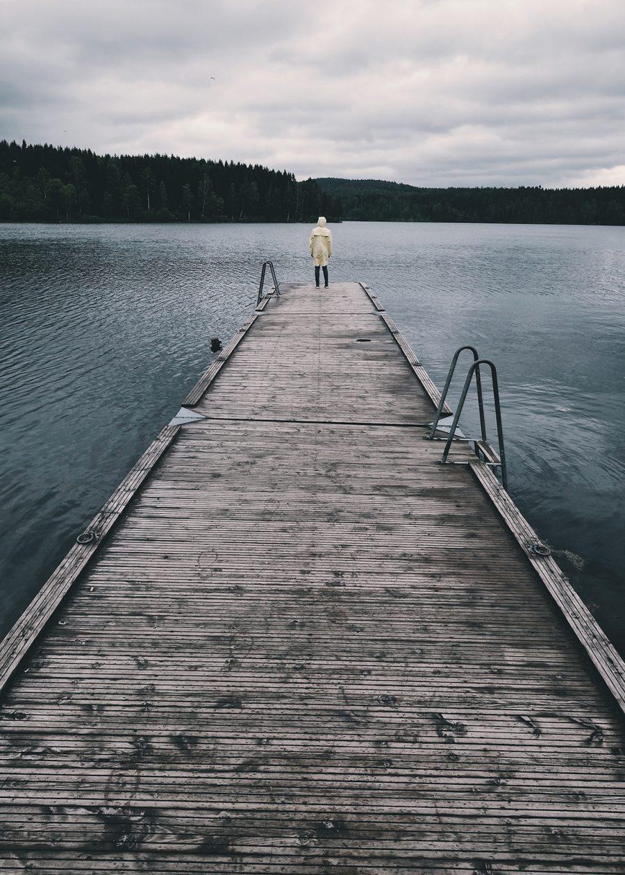 Brygge på Sognsvann av Tor Arne Hotvedt