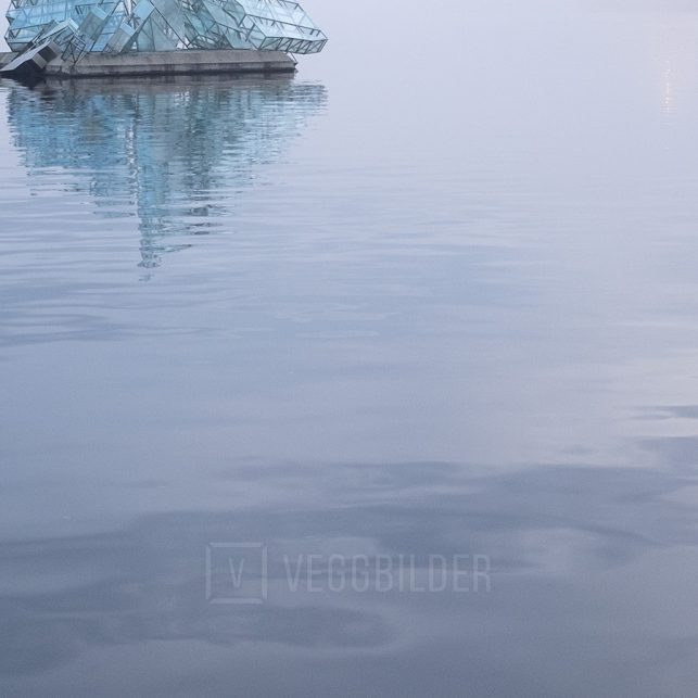 Isfjell i Oslofjorden, fotokunst veggbilde / plakat av Tor Arne Hotvedt