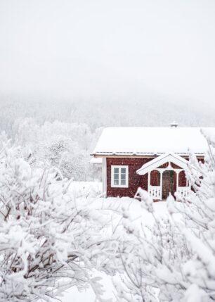 Tett snødrev i Nesbyen, fotokunst veggbilde / plakat av Tor Arne Hotvedt