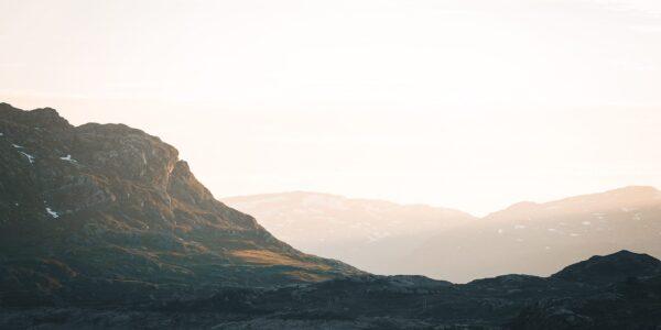 Solskinn på Haukelifjell, fotokunst veggbilde / plakat av Tor Arne Hotvedt
