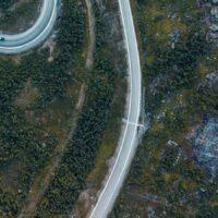 Hårnålsvinger på Haukelifjell III, fotokunst veggbilde / plakat av Tor Arne Hotvedt