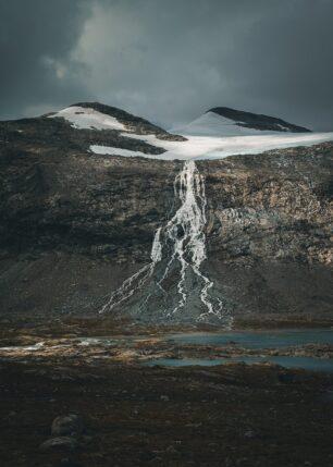 Smeltende isbre I, fotokunst veggbilde / plakat av Tor Arne Hotvedt