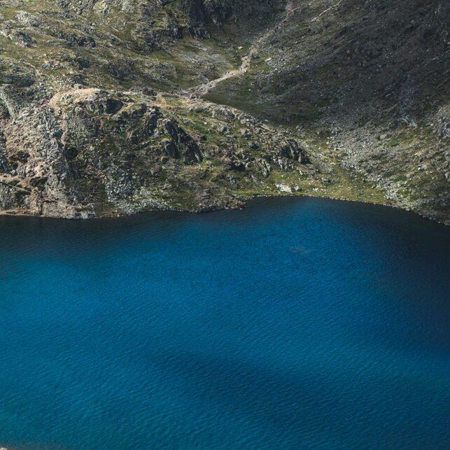 Panoramabilde fra toppen av Besseggen, fotokunst veggbilde / plakat av Tor Arne Hotvedt