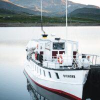Båten Bitihorn på innsjøen Bygdin, fotokunst veggbilde / plakat av Tor Arne Hotvedt