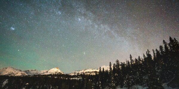 Melkeveien på himmelen på Lifjell, fotokunst veggbilde / plakat av Tor Arne Hotvedt
