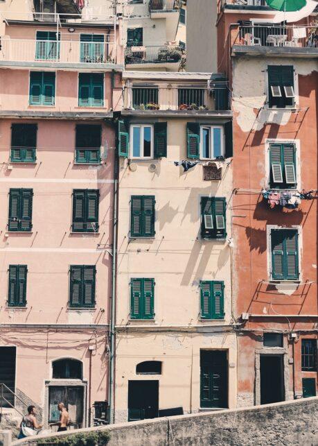 Fasade i Riomaggiore av Tor Arne Hotvedt
