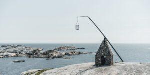 Opp av svaberget, fotokunst veggbilde / plakat av Kåre Johansen