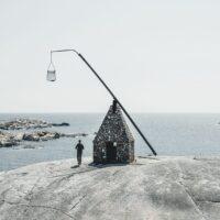 Verdens Ende i Tjøme utenfor Tønsberg, fotokunst veggbilde / plakat av Tor Arne Hotvedt